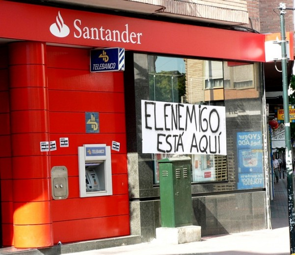 Boicot a bankia y banco santander en murcia for Oficinas banco santander murcia